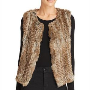 525 America 100% Real rabbit fur vest!